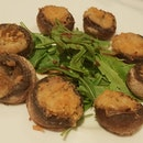 Baked Button Mushroom With Garlics