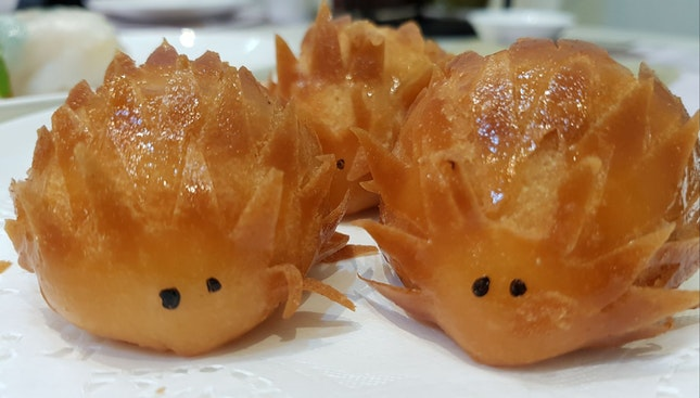 Deep Fried Porcupine Buns with Red Bean Paste