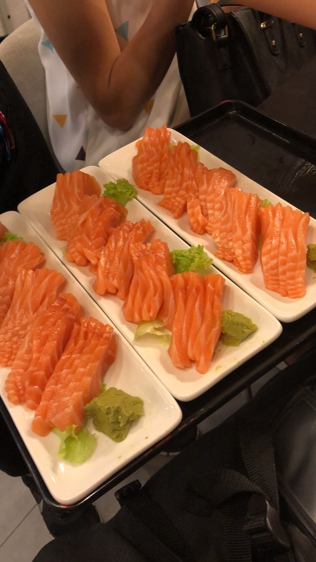 More Salmon Sashimi Please