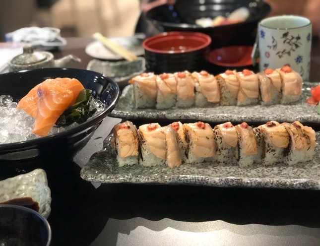Fresh Sashimi, Chirashi And Maki