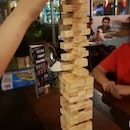 Playing Jenga at Alter Ego.