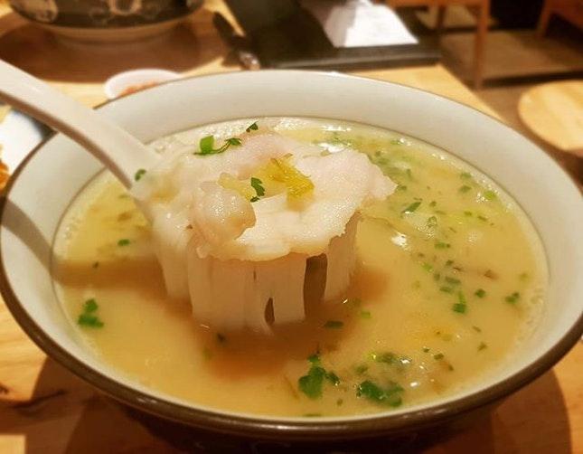 Garoupa Salted Veg Noodles $12.9++ 👍🏻👍🏻 .