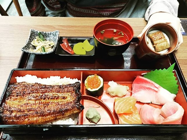Unagi & Sashimi Set 👍🏻👍🏻👍🏻👍🏻👍🏻 $32.8++ .