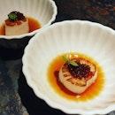 Scallops & Soy Caviar 👍🏻👍🏻👍🏻👍🏻👍🏻 $20++ .