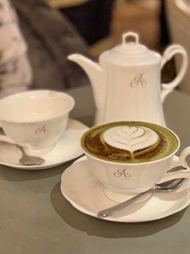 Moroccan Mint & Matcha Cafe Latte