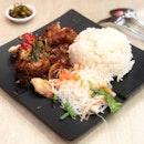 Kra Pow Basil Crispy Chicken With Rice