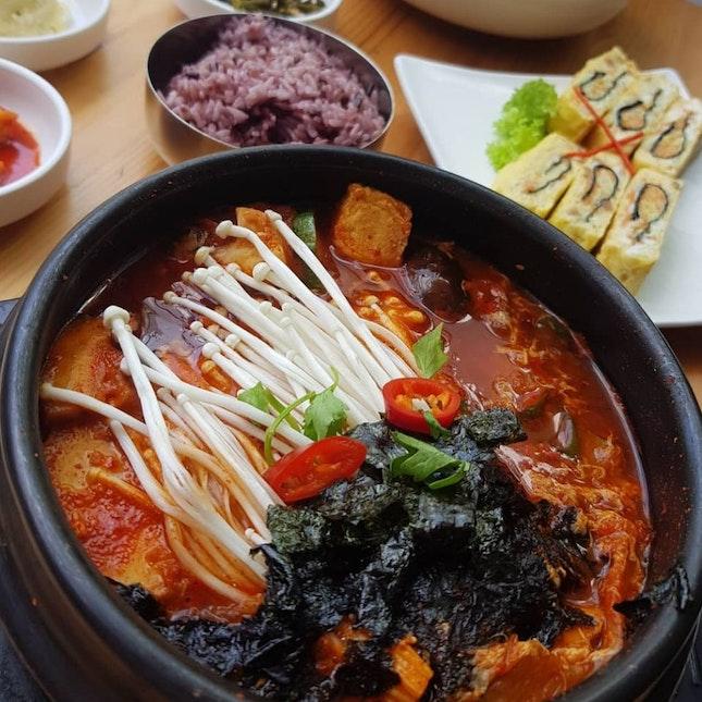comforting sundubu stew!