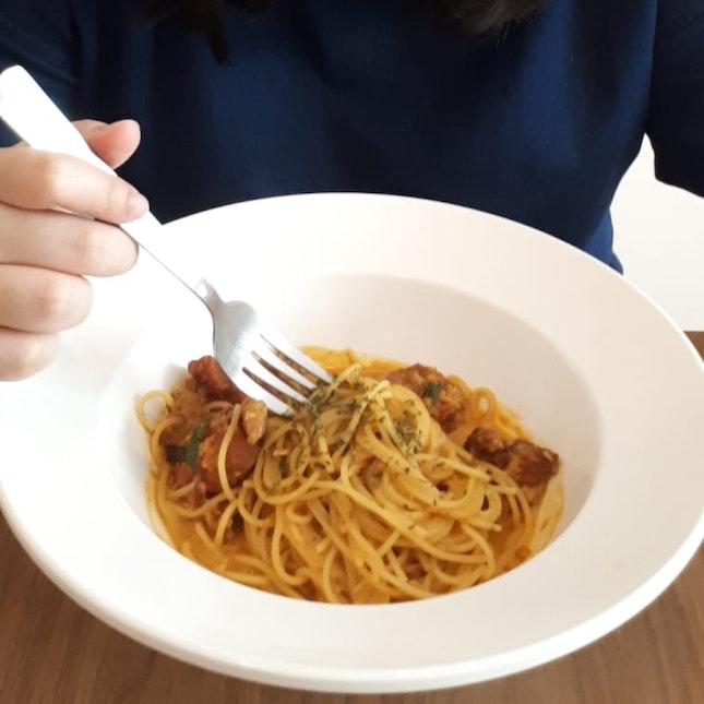 Curry & Chilli Crab Pasta