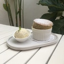 Earl Grey Soufflé and Chrysanthemum Ice Cream