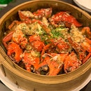 Awesome steamed crab with glutinous rice...