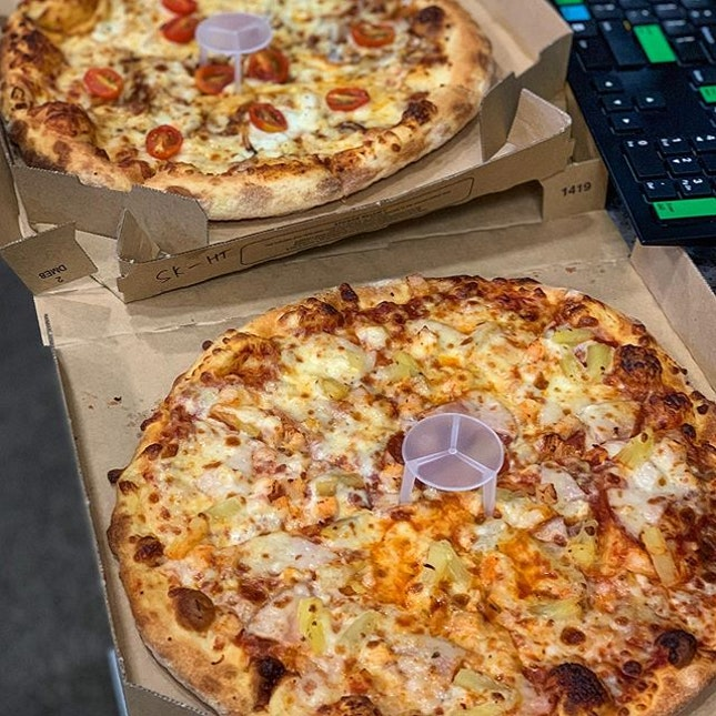 Pizzas are always a good idea for work parties!