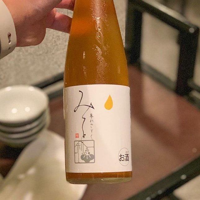 Some Yuzu Sake to go with our steamboat dinner 😍