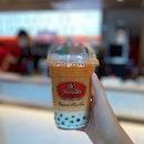 Thai Tea Milk w Pandan Pearl ($5.60)