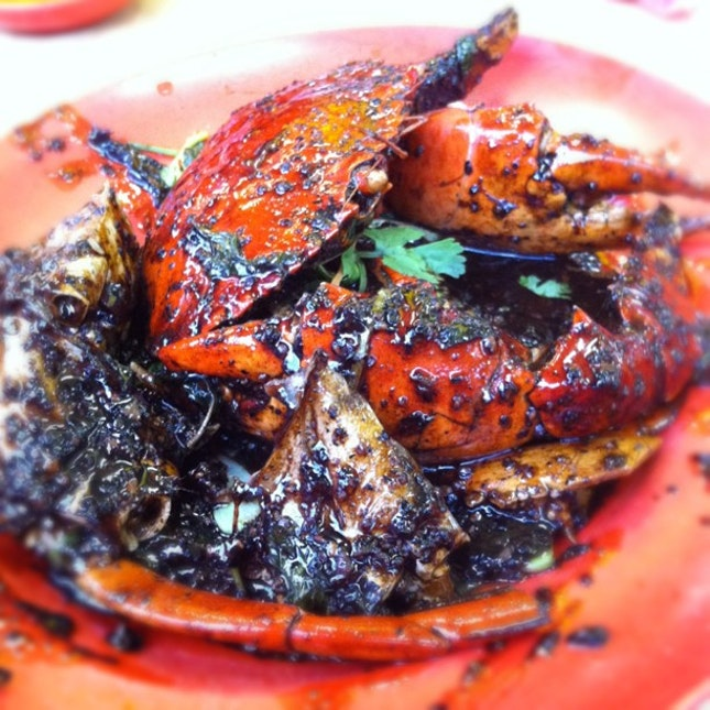 Family Meals with Black Pepper Crab