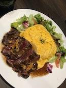 Steak omu Rice