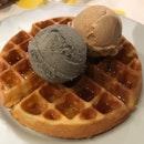 Buttermilk Waffle + 2 Standard Flavour Ice Cream $13.75