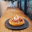Strawberry waffle!