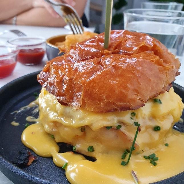 Sinful Breakfast Burger