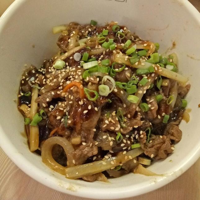 Bulgogi Japchae With Rice ($8.90)