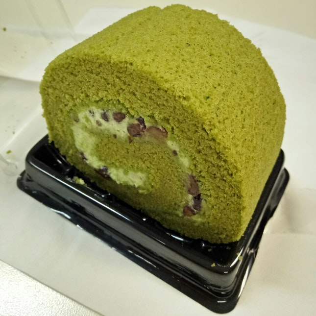 Less Sugar Green Tea Cake ($1.80)