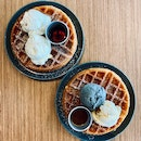 Double Scoop Ice Cream with Waffle ($12.50)