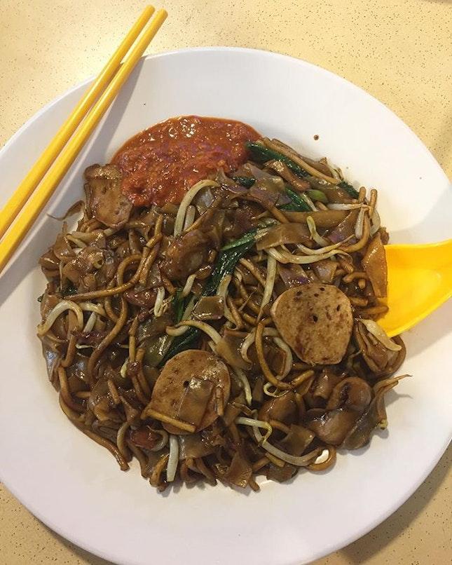 Vegetarian Char Kway Teow from Tanaka Vegetarian stall at Bukit Gombak.