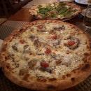 Bufala Pizza ($26) And Beef Pizza ($27)