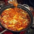 📌GUIGA ・ BBQ set C $69 Cheese Dak-Gal-Bi (チーズダッカルビ) $37 チャプチェ $?