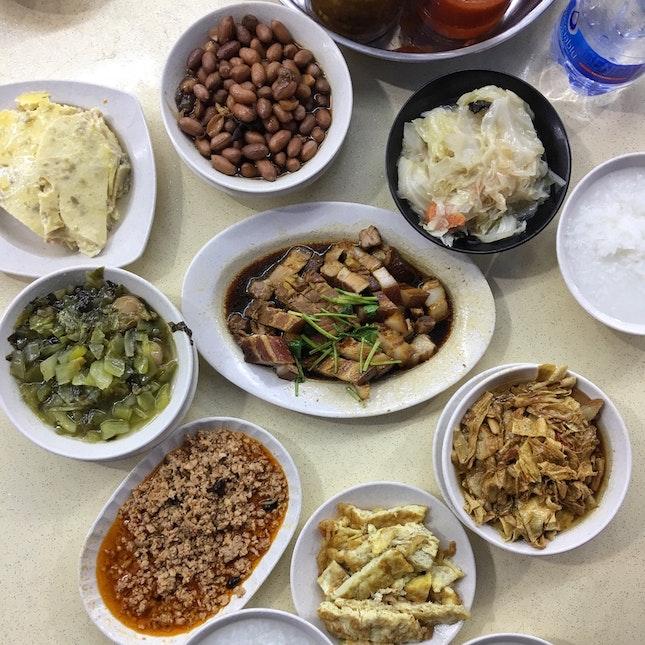 Teochew Porridge Spread (about $7 per pax)