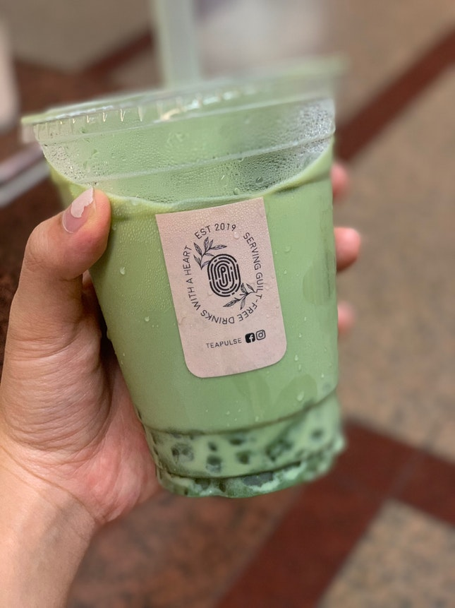 Matcha Latte With Chestnut Pearls ($3.10 After Burrple Beyond!)