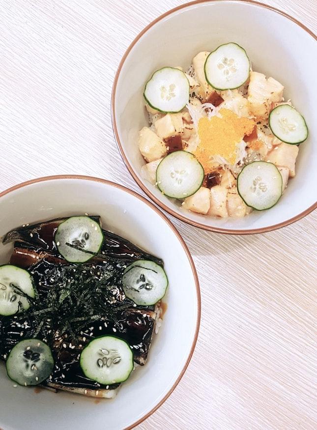 Unago Rice & Aburi Salmon Don (Average $15)