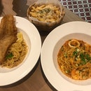 Assam Fish And Chilli Crab Pasta ($15 Each)