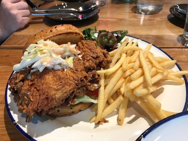 Buttermilk Chicken Burger ($20)