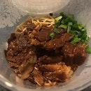 Braised Pork Ribs Dry Noodle ($10.50)