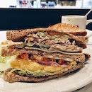 Club Sandwich for Breakfast.