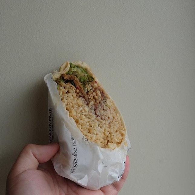 Spicy pork Burrito (P240) .