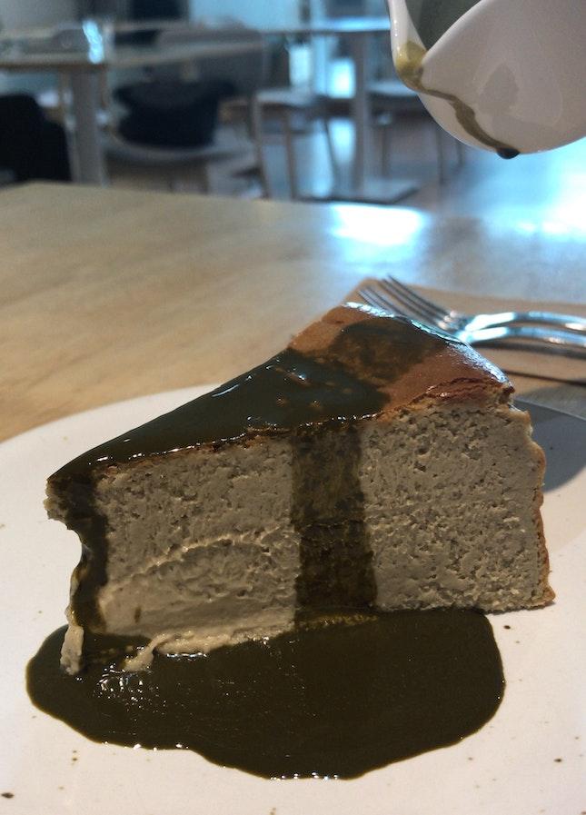 Hojicha burnt cheesecake!!