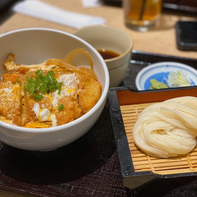 Katsu Rice And Cold Udon Set