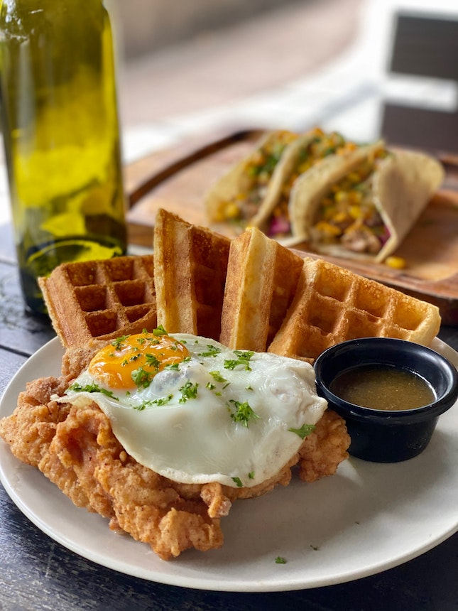 Chicken and Waffles ($20)