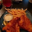 Beer Battered Fish & Chips ($17)