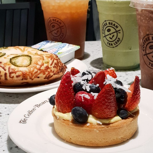 Strawberry Tart And Bagel