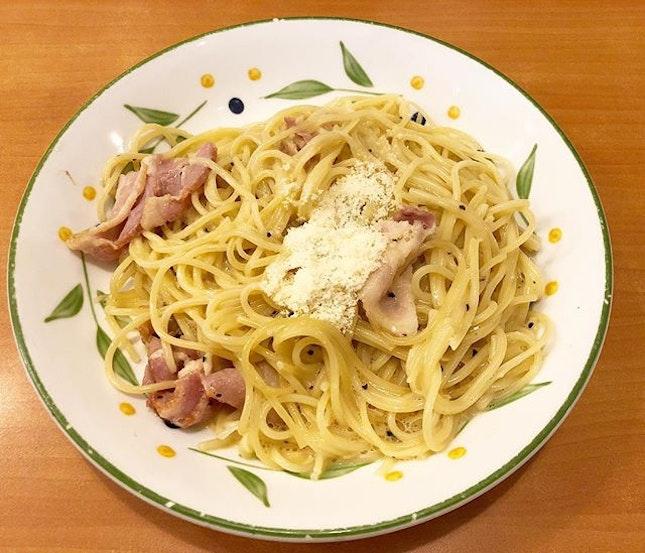 Carbonara ($5.90) - Used to think that Saizeriya serves decent pasta but I was wrong.