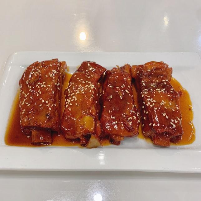 Pork Ribs in Sweet Sauce