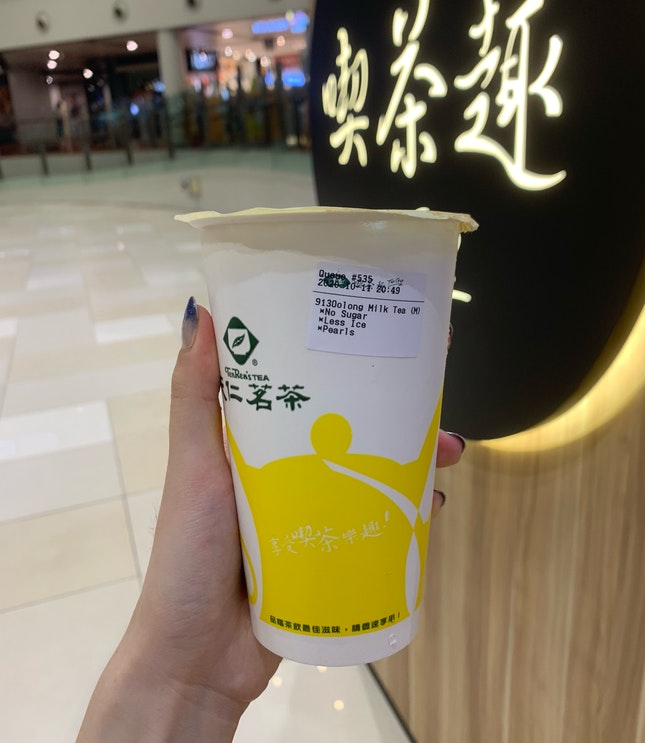 913 oolong milk tea with pearls
