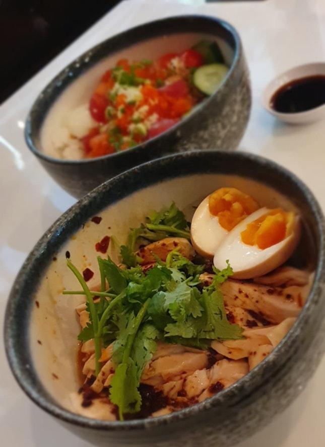 Chirashi Don and Salivating Chicken Udon
