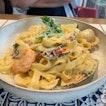 Tomyum Seafood Pasta ($16)
