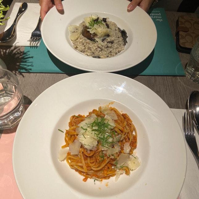 Truffle Risoto & Crab Pasta