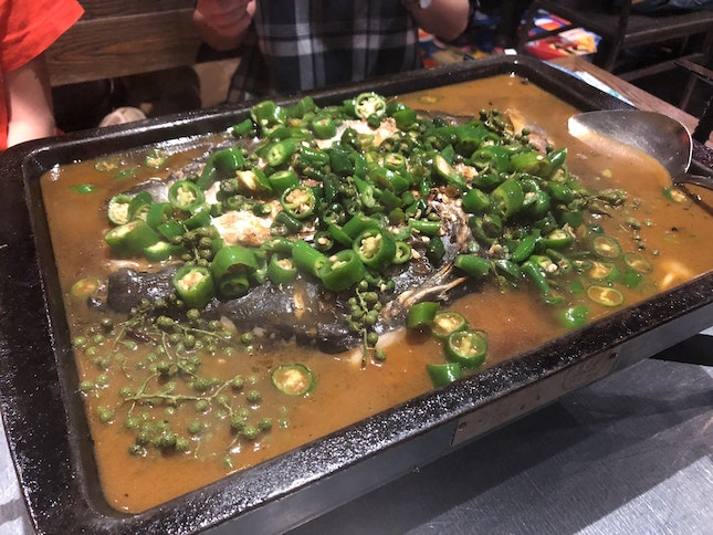 Green Pepper Grilled Limo Fish