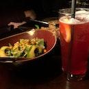 🐰 Avocado & Kale Tabbouleh (S$15++), Rosetip & Hibiscus Iced Tea (S$9++) #sgfoodies #sgfoodie #sgigfoodies #sgigfood #burpple #blurpplesg