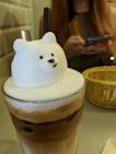 Very cute 3D cafe art